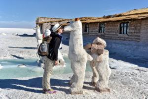 Salar de Uyuni Bolivia Bolivien Salzwüste Saskia Hohe