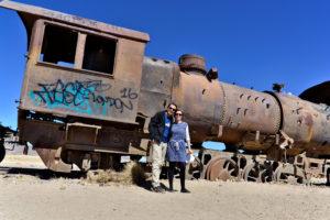 Train cementary close to Uyuni, Bolivia saskia Hohe