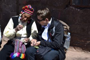 Taquile Island - Coca leaves expert meeting