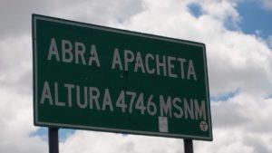 Altitude in Peru