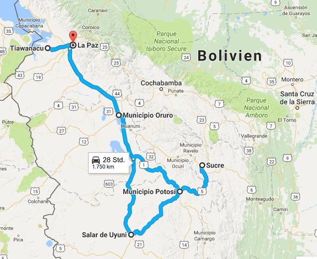 Travel experience Bolivia route to explore travel tips Bolivia
