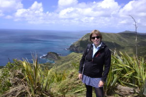 Saskia Hohe at Cape Reinga North Island New Zealand