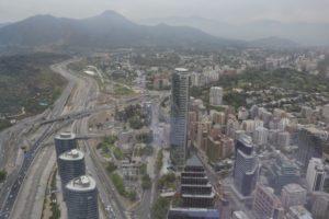 Skyline in Santiado de Chile