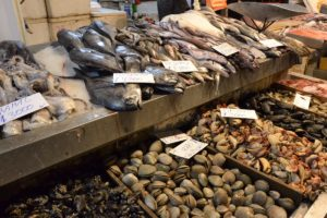 Fish at the central market in Santiago de Chile