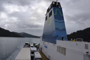 Ferry interislander from North to South in New Zealand