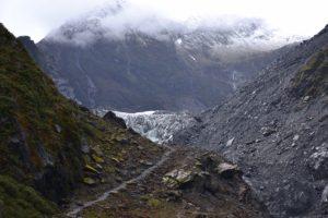 Glaciers in Te Wahipounamu Fox Glacier in New Zealand