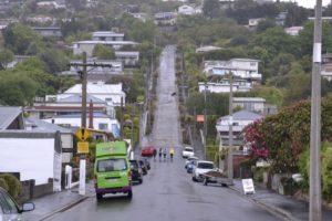 Baldwin Street Steepest street in the world in Dunedin in New Zealand