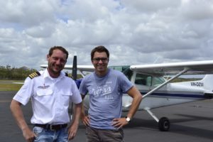 Paul and our pilot Time Briest Fraser Island Australia
