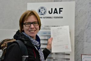 JAF Tokyo Driver licence Führerschein