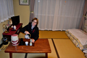 Saskia Hohe at Ryokan Nikko Traditional japanese guest house
