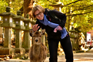 Saskia Hohe Nara deer park unesco world heritage Japan