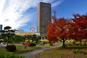 Kyu-Shiba-rikyu Gardens Tokyo World trade Center