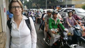 Traffic in Ho-Chi-Minh-City - lots of motorcycles