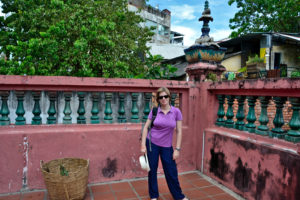 Saskia Hohe inJade Emperor Pagoda Ho-Chi-Minh City saigon Vietnam