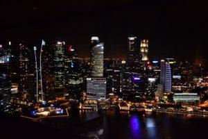 Singapore's skyline at night- Singapore Travel Tips