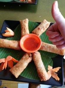 Cooking class in Siem Reap Cambodia Kambodscha Fried Spring rolls