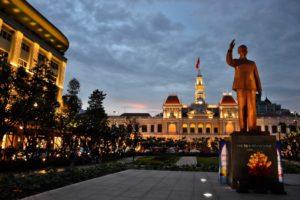 Ho-Chi-Minh Memorial in Ho-Chi-Minh-City / Saigon Vietnam
