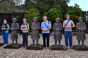 Tomb of the last emperor Khai Dinh near Hue in Vietnam Family picture Saskia Hohe
