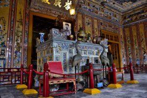 Tomb of the last emperor Khai Dinh near Hue in Vietnam