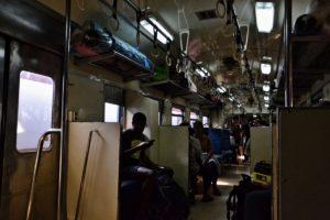 Third class train in Thailand