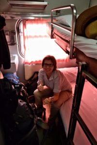 Saskia Hohe in the Night train from Chiang Mai to Bangkok - Thailand Travel Tips