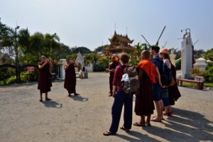 Monks in Mandalay Myanmar