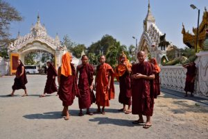 Kuthodaw Pagoda Monks in Mandalay Myanmar - Myanmar (Burma) Travel Tips