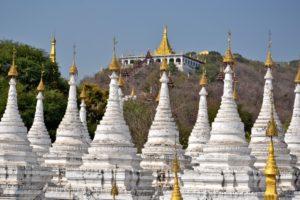 Kuthodaw Pagoda Stupas in Mandalay Myanmar