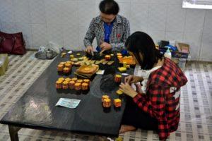 Making Gold leaves in Mandalay Myanmar Burma