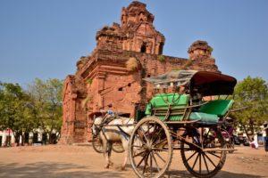 horse cart Bagan in Myanmar Burma