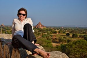 Saskia Hohe in ballons over Bagan in Myanmar Burma