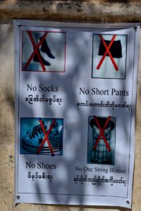Rules to visit temples in Bagan