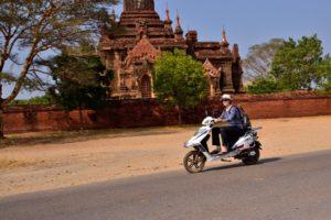 Saskia Hohe in Bagan in Myanmar Burma