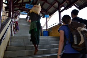 Walking up Mount Popa Myanmar Burma