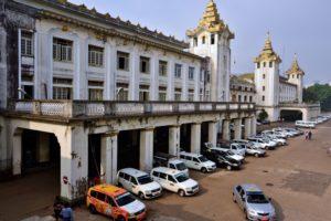 Train station in Yangon Myanmar Burma