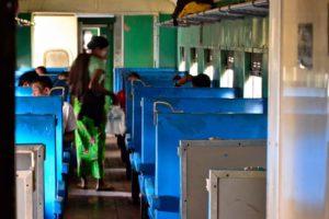 Ordinary class train Myanmar Burma
