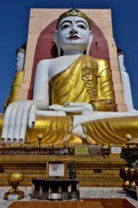Four Buddhas Bago Myanmar Burma