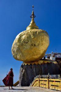 Golden Rock Kinpun Myanmar Burma