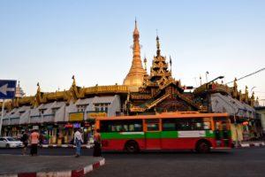 Sule pagode yangon Myanmar Burma
