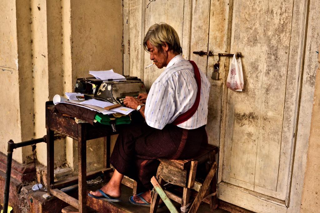 Colonial area Yangon Myanmar Burma