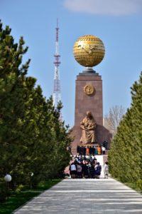 Independence monument in Tashkent Uzbekistan