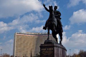 Amir Timur monument in Tashkent Uzbekistan