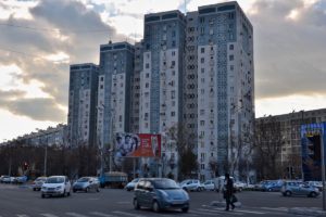 Soviet buildings in Tashkent Uzbekistan