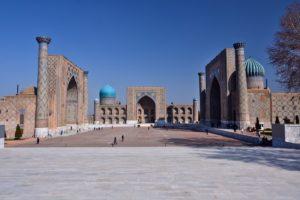 The Registan in Samarkand Uzbekistan