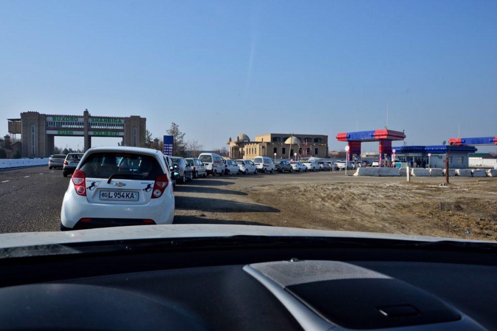 Gas station in Uzbekistan