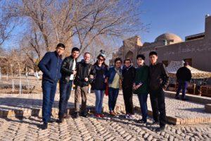 Saskia Hohe Selfie in Uzbekistan