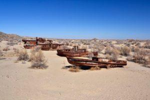 Ship graveyard in Moynak / Karakalpakstan Uzbekistan