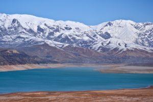 Charvak lake in Uzbekistan