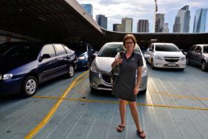 Saskia Hohe on the ferry from Uruguay to Argentina - Argentina and Uruguay Travel Tips