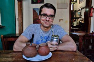 Paul Lokuciejewski drinking Mate Tea - Argentina and Uruguay Travel Tips